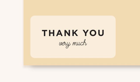 Personalized thank you very much stickers 3 5x1 75 clear matte sticker thank you sticker wedding stickers baby shower favoursset of 10