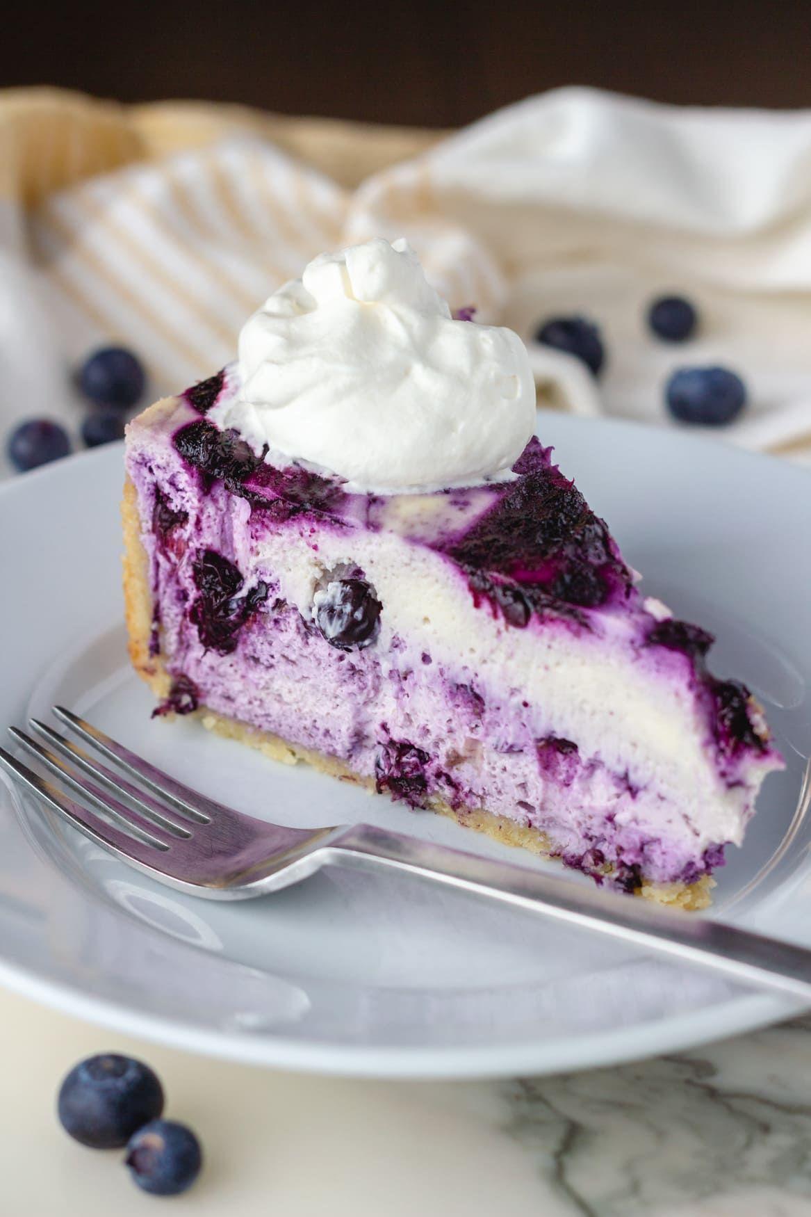 Keto Blueberries & Cream Cheesecake