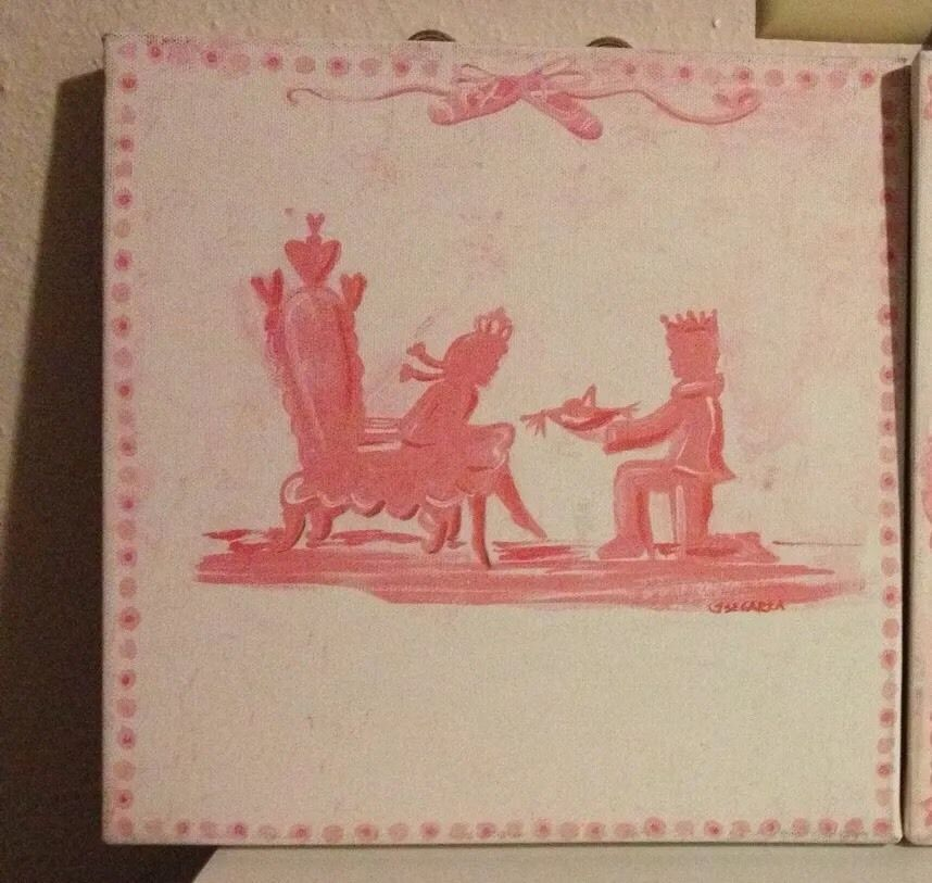 Oopsy Daisy Too Wall Art Pink Princess Throne Prince Charming Jones Segarra & Oopsy Daisy Too Wall Art Pink Princess Throne Prince Charming Jones ...