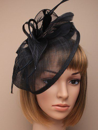 Large Navy Blue Hat Fascinator Weddings Las Day Race Royal Ascot Allsorts For Christmas
