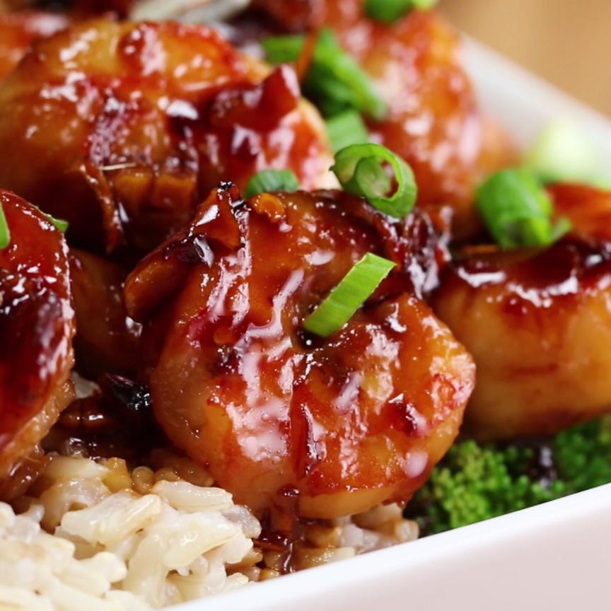 Honey Garlic Shrimp Stir-Fry  Recipe In 2019  Food -2394