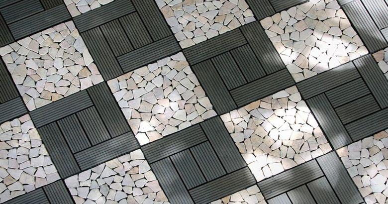 Outdoor Floor Tiles Eco Friendly Wpc Decking Diy Deck Teak Furniture