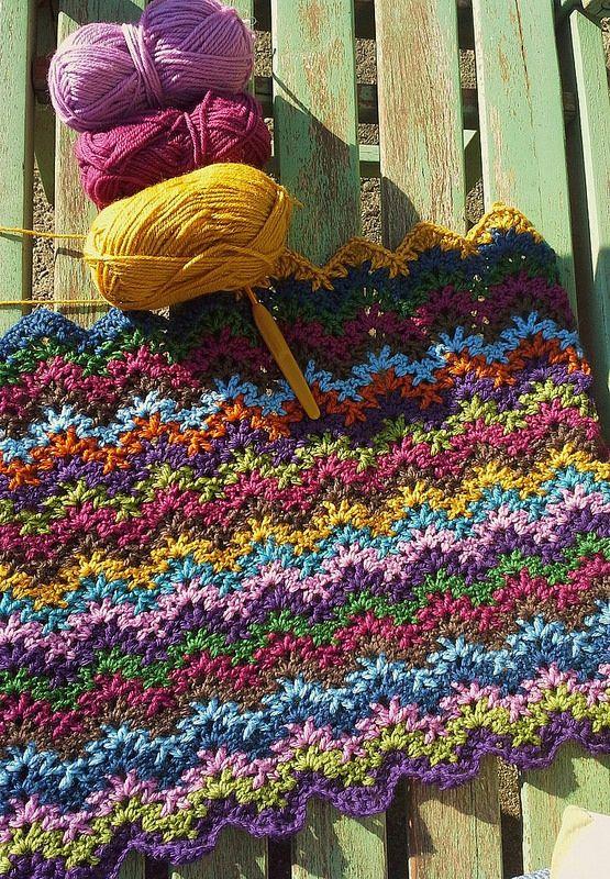 Crochet blanket in progress
