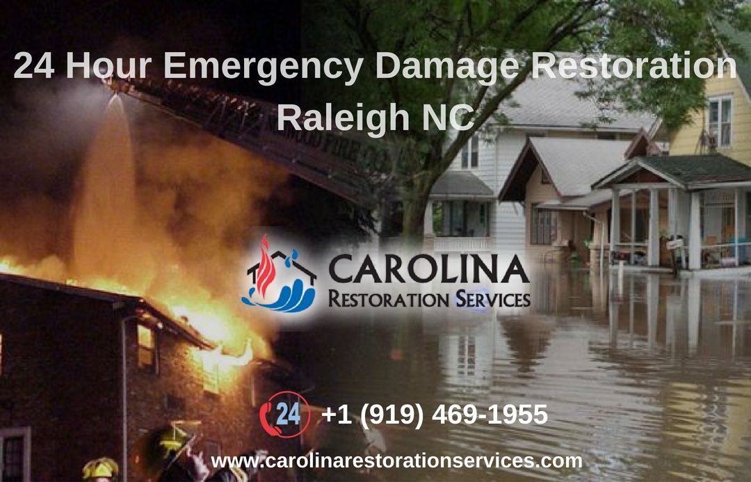 Call carolina restoration services at 1 9194691955