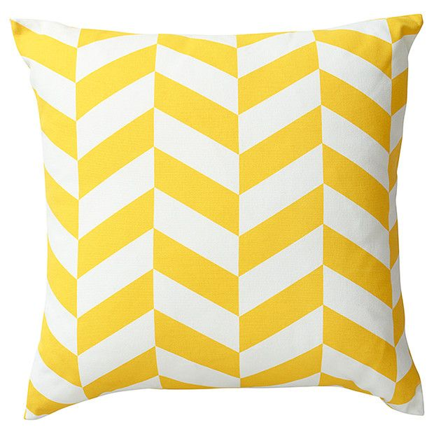 Herringbone Print Cushion Yellow Target Australia LJs