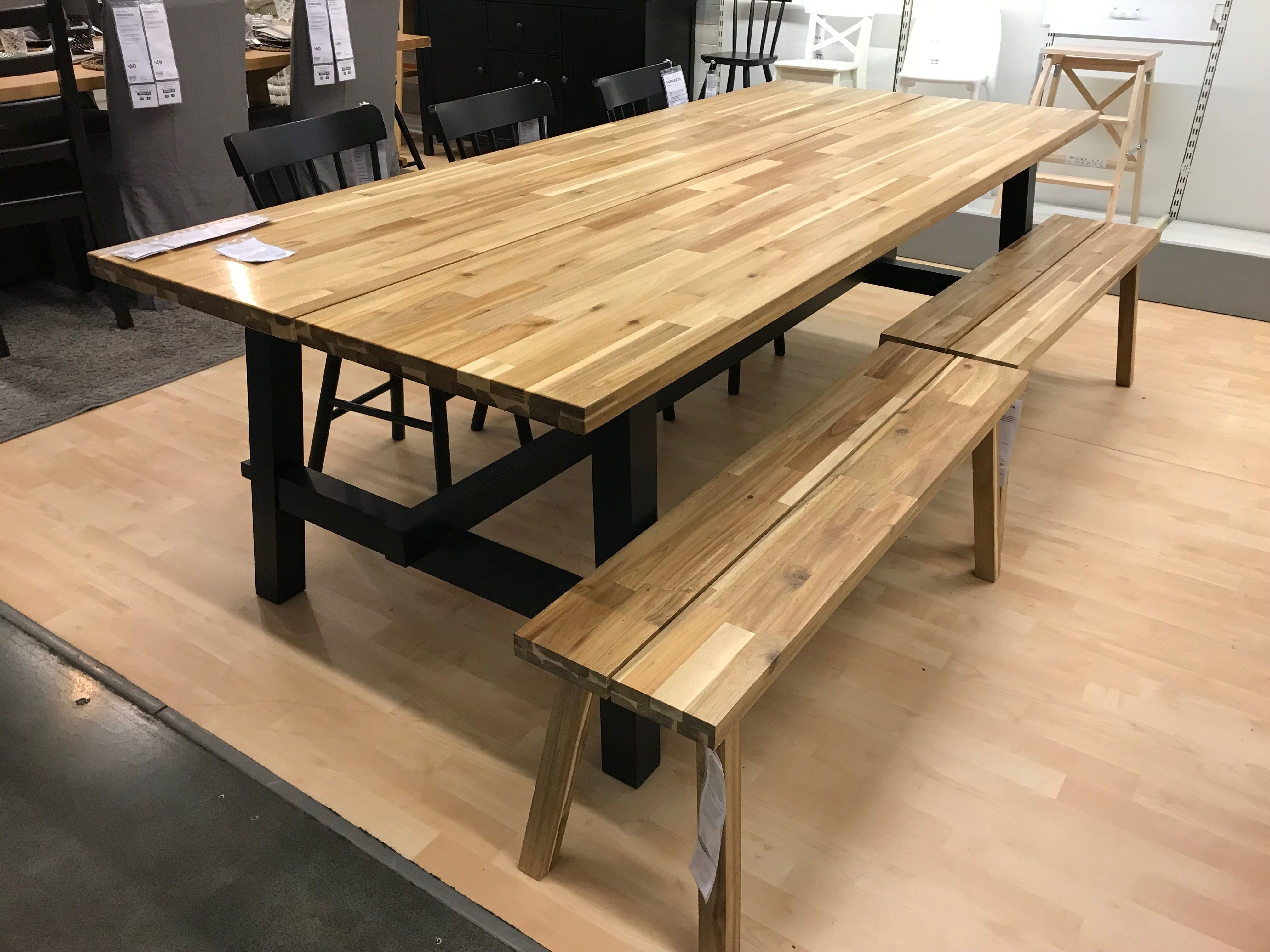 Ikea This Table Frame With A Live Edge Wooden Slab On Top Instead