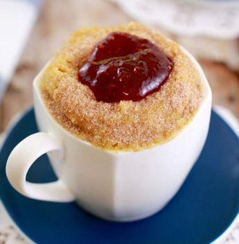 Here's how you can make a jam doughnut in a mug in seconds ...