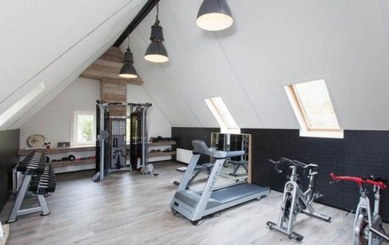 Photo of Fitness room in the attic #recreationalroom #recreational #room #man #cave