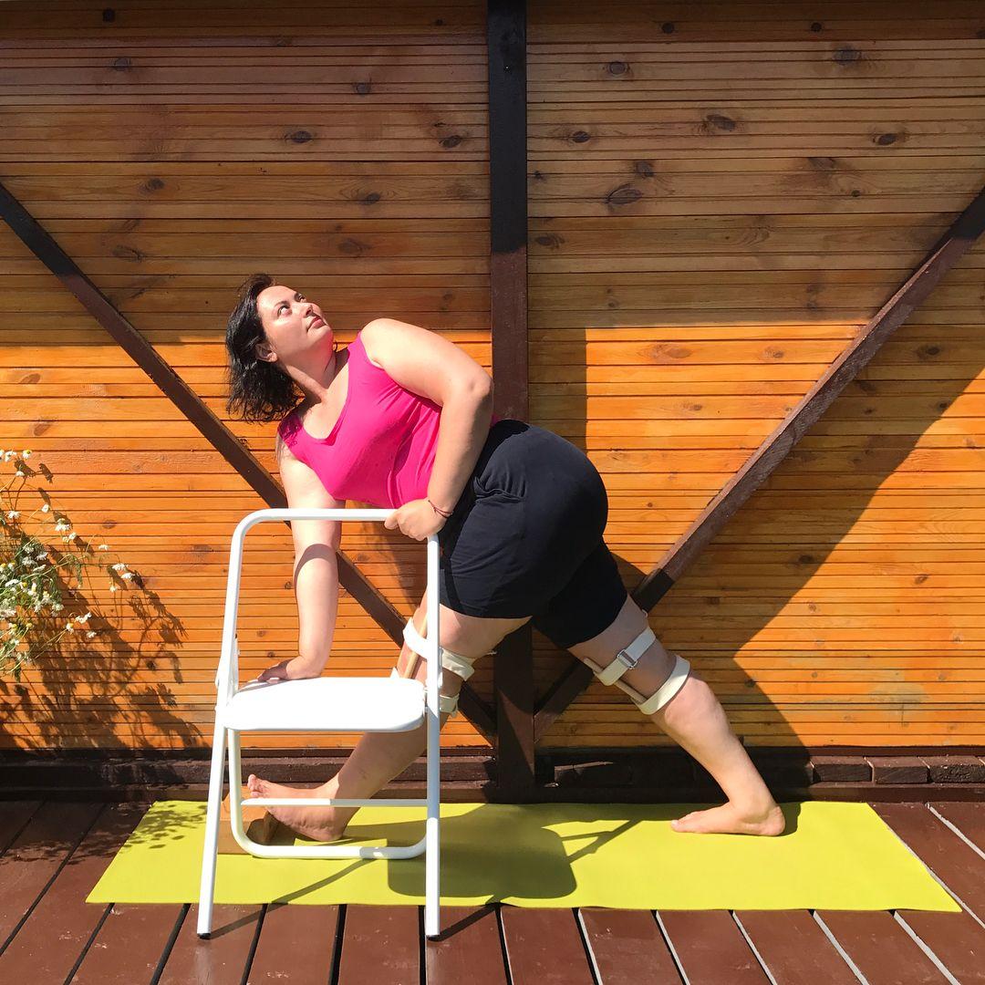 Pin by Faeqa Anoohi on curvy Restorative yoga, Chair