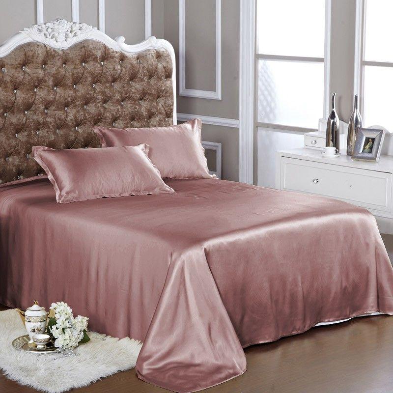 Dusty Rose Silk Bed Linen Silk Bedding Set Silk Bed Sheets