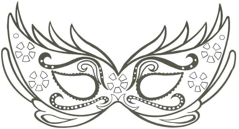 Loup pour carnaval coloriage princesse a imprimer nouveaux coloriages carnaval - Masque de carnaval de venise a imprimer ...