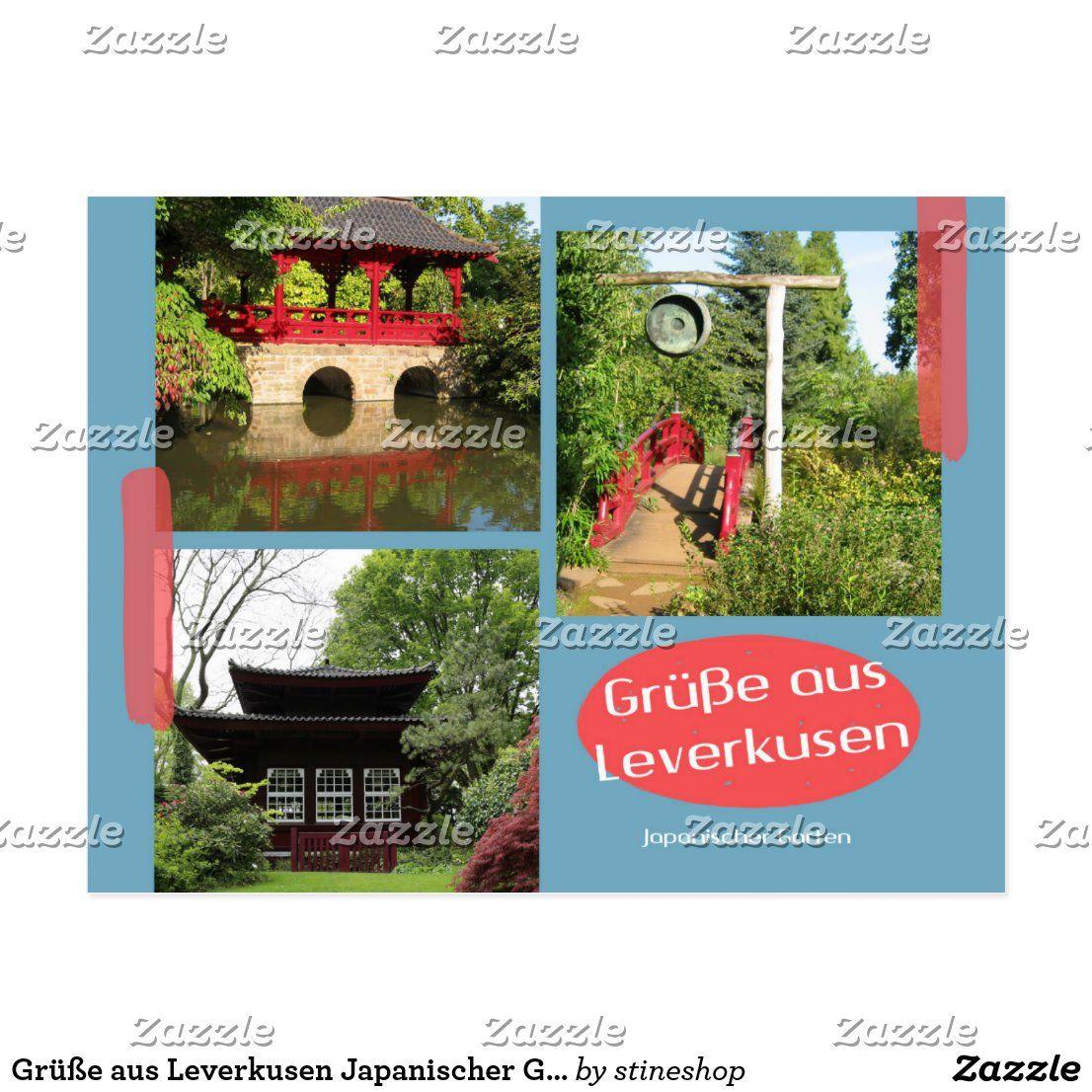 Grusse Aus Leverkusen Japanischer Garten Postkarte Zazzle De Postkarten Postkarten Gestalten Karten