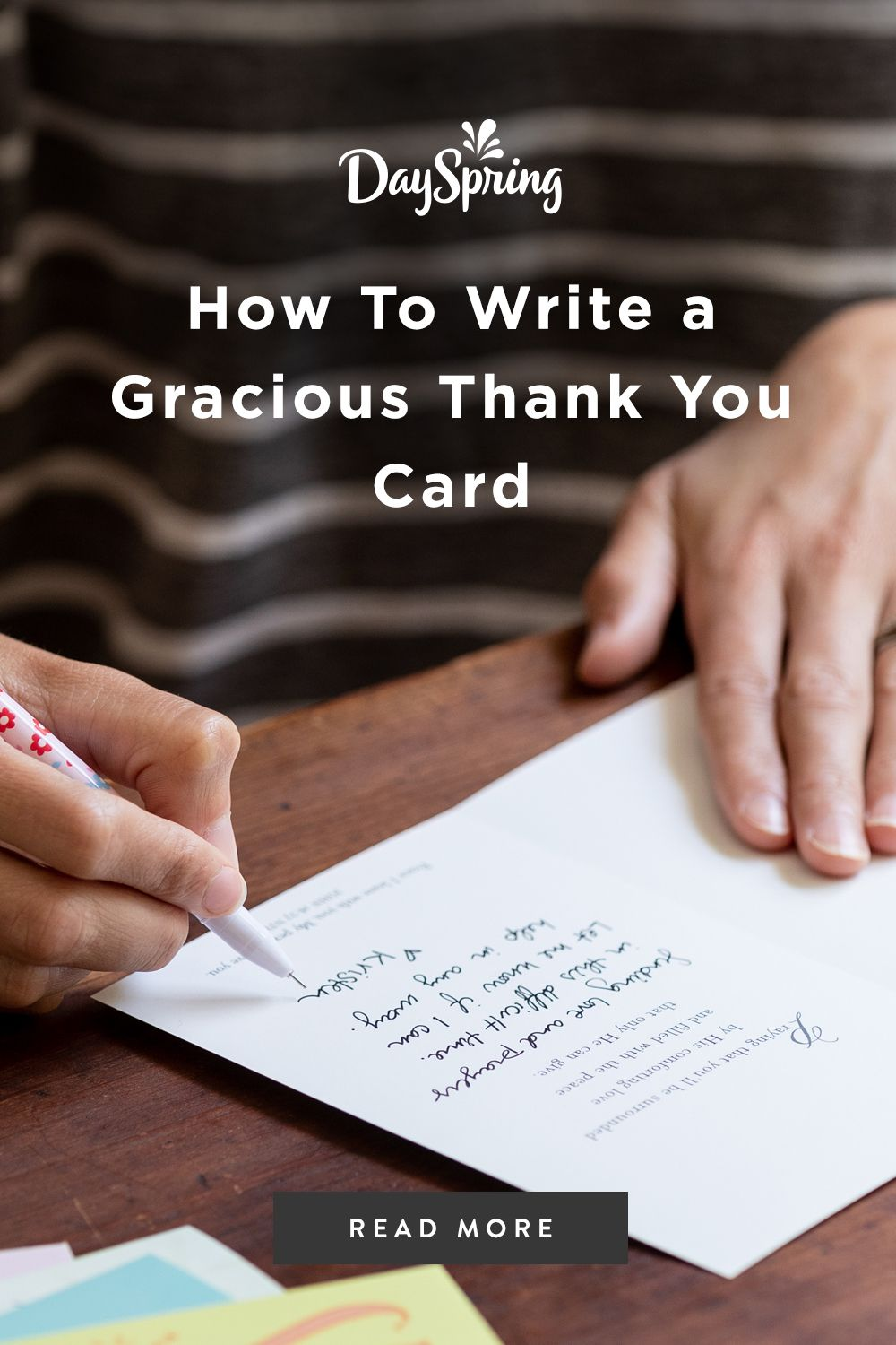 How To Write A Gracious Thank You Card Thank You Card Sayings Writing Thank You Cards Thank You Messages