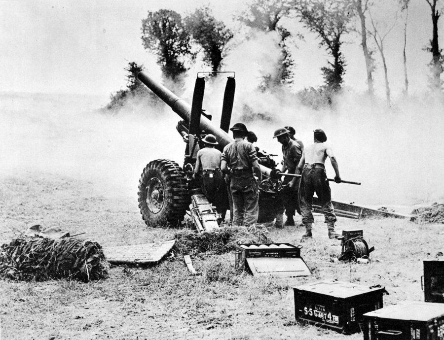 Image result for ww2 british 5.5 inch artillery gun