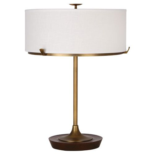 Robert Abbey Edwin Table Lamp Table Lamp Wood Brass Table Lamps Table Lamp