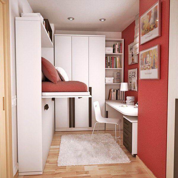 Modern teen studio bedroom with maximum space utilization. | Teen ...