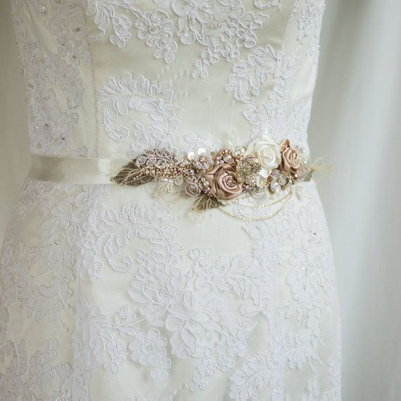 Wedding belt, wedding dress sash belt, Bridal belt, Lace sashes ...