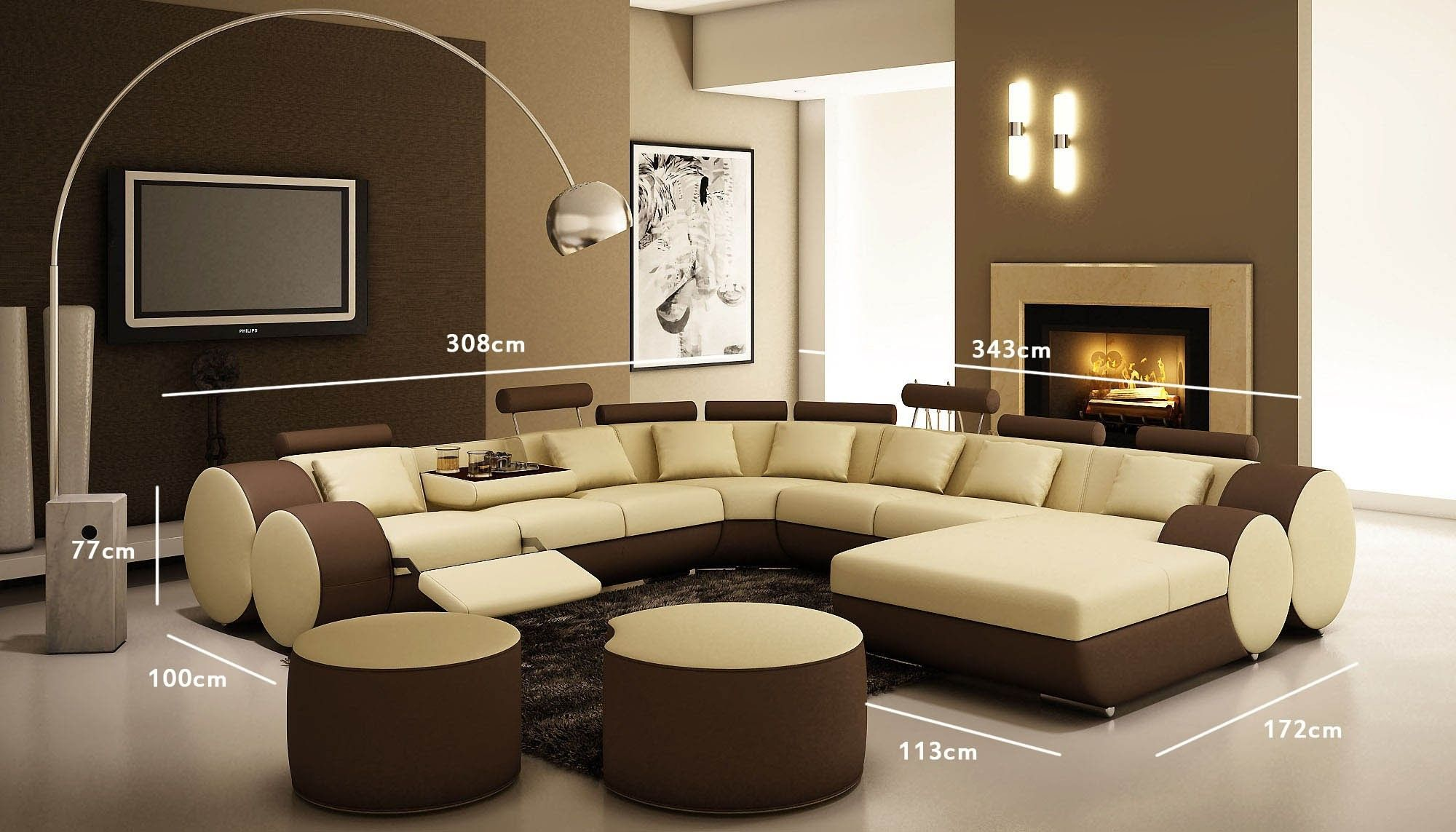deco salon marron beige stockphotos decoration et 73 Layout In Decoration And Family Room id=13217