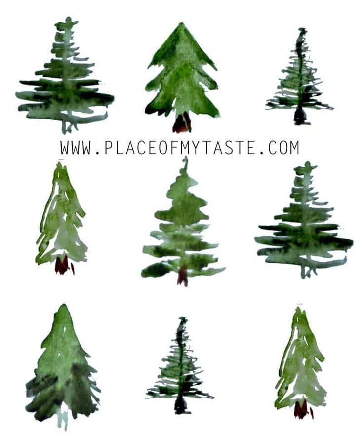 CHRISTMAS COUNTDOWN calendar- WATERCOLOR MINI TREE