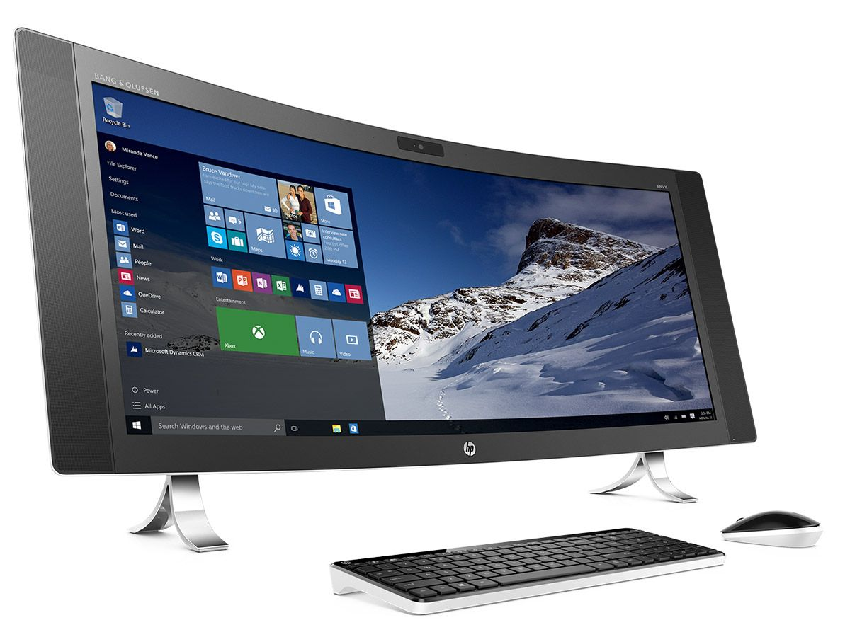 Hp Envy Curved All In One Pc All In One Pc Computer All In One All In One