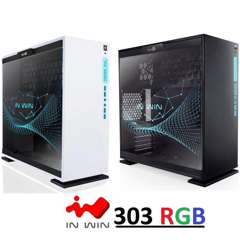 Inwin 303 Rgb Edition Mid Tower Gaming Pc Case Tempered Glass