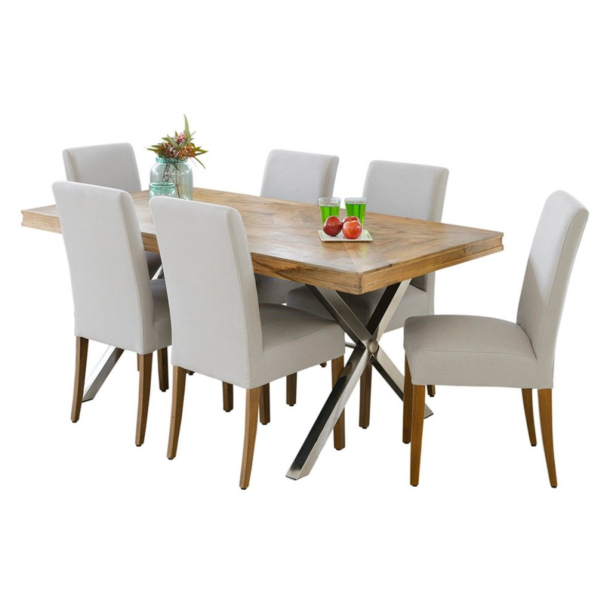 Groovy Croxley 1820 Table With 6 Cole Chairs Package Packages Gamerscity Chair Design For Home Gamerscityorg