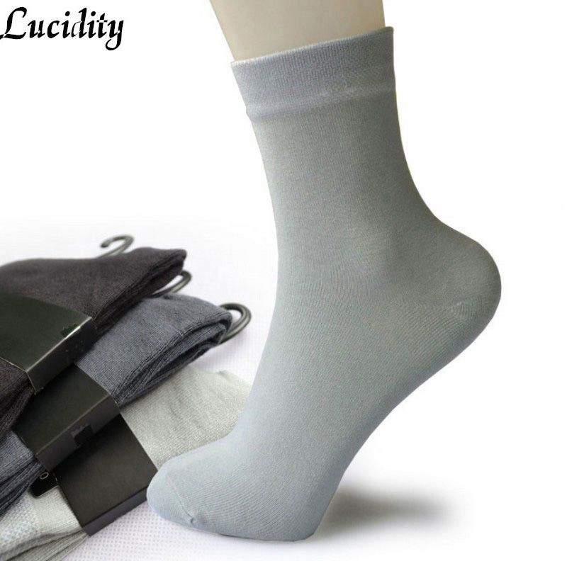 Lucidity Thicken Men Winter Socks Fashion Male Socks Bamboo Fiber ...