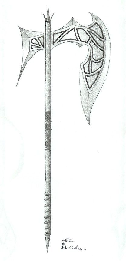Battle Axe 2 By Stoven2005 Battle Axe Axe Drawing Weapon