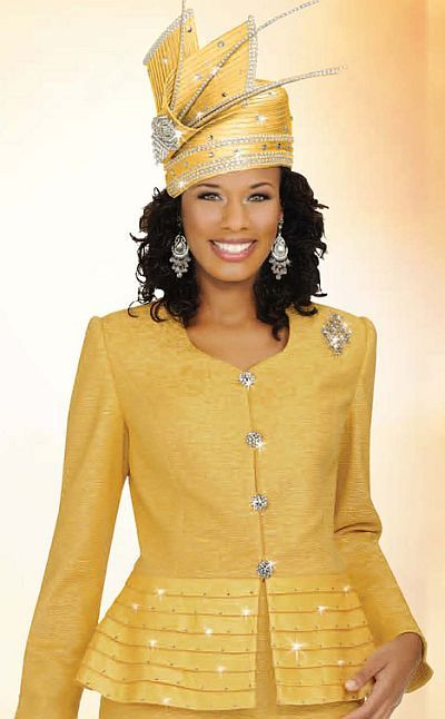 Another image of Ben Marc Womens 2pc Brocade Church Suit with Pleating 47117