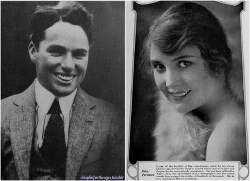 A young Charlie Chaplin & Edna Purviance   1917 & 1916 respectively..