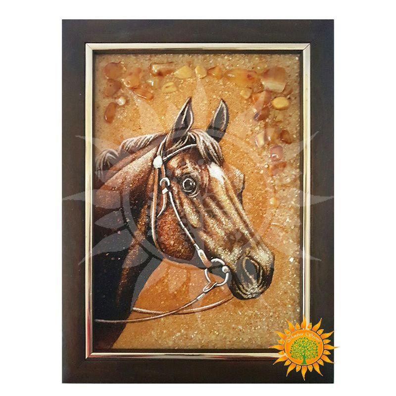 Картина конь из янтаря выглядит очень трогательно, мило и искренне. Автору отлично удалось передать загадочный образ лошади