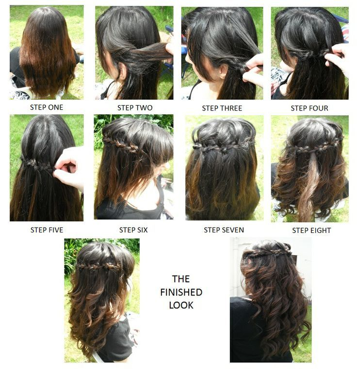 how to do the waterfall braid step by step | Hair Styles ...