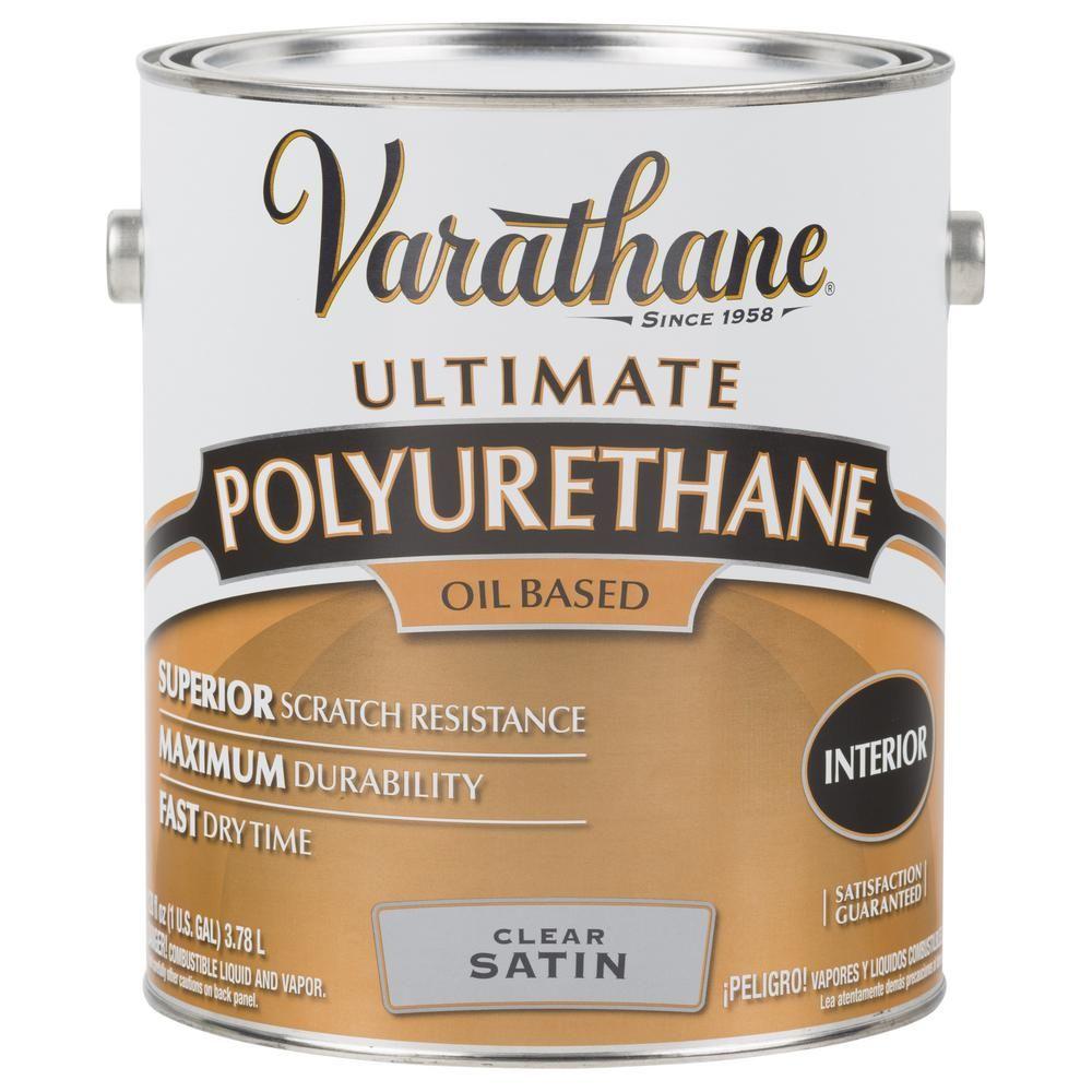 Varathane 1 Gal Clear Satin Oil Based Interior Polyurethane 2 Pack 342069 The Home Depot Varathane Polyurethane Interior Wood Stain