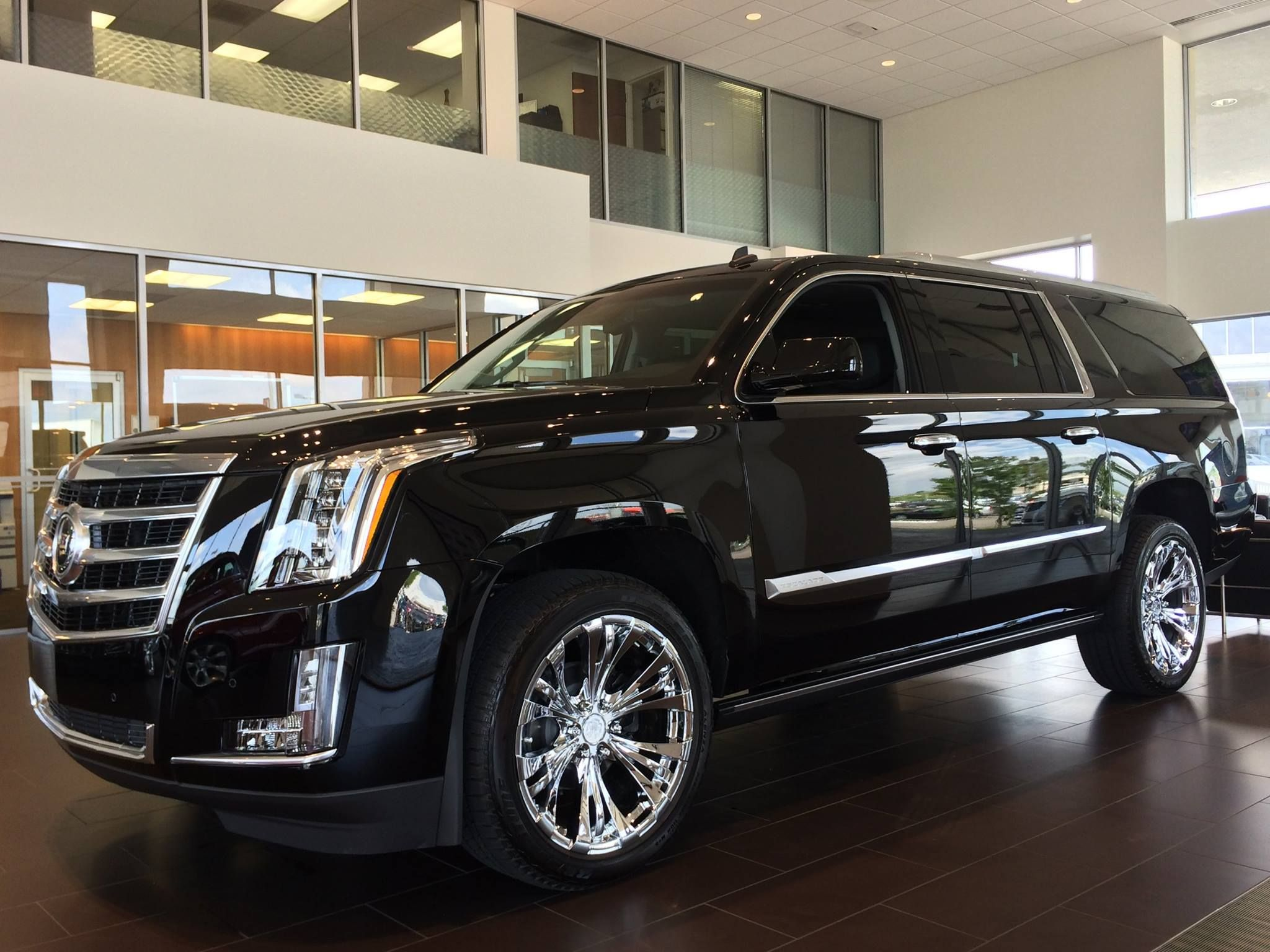 Introducing the 2015 cadillac escalade with vogue tyre 22inch rampage custom wheels on it pictures