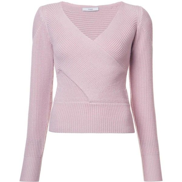 b356dd42bd0 Tome crossover sweater ( 575) ❤ liked on Polyvore featuring tops ...