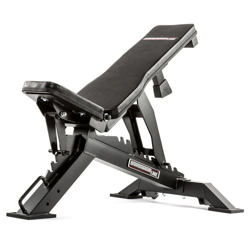Barbarian Line Warrior Adjustable Bench No Equipment Workout Incline Bench At Home Gym
