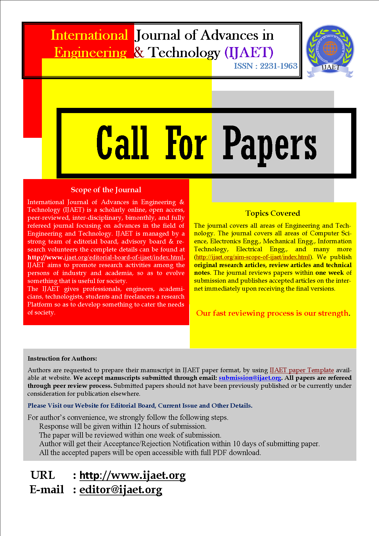 Call for Paper Journal | Call for Papers IJAET | Journal paper