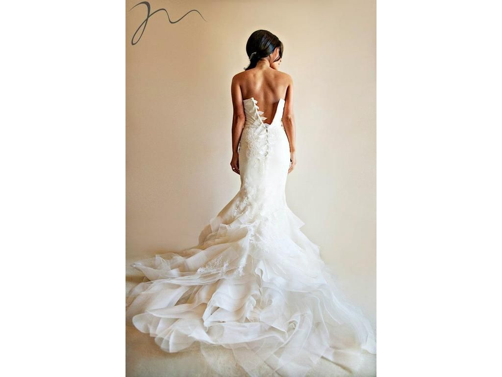 Vera Wang Fawn Wedding Dress Lace Flower With Organza Wedding Dress Websites Dresses Wedding Dresses