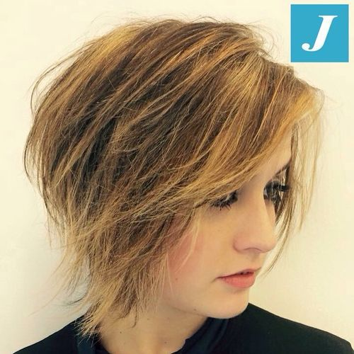 50 Classy Short Bob Haircuts And Hairstyles With Bangs Layered Haircuts With Bangs Layered Bob Haircuts Thick Hair Styles