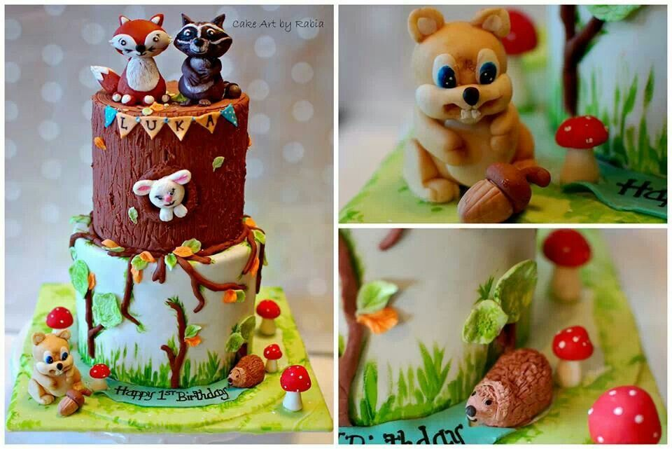 Forest themed cake