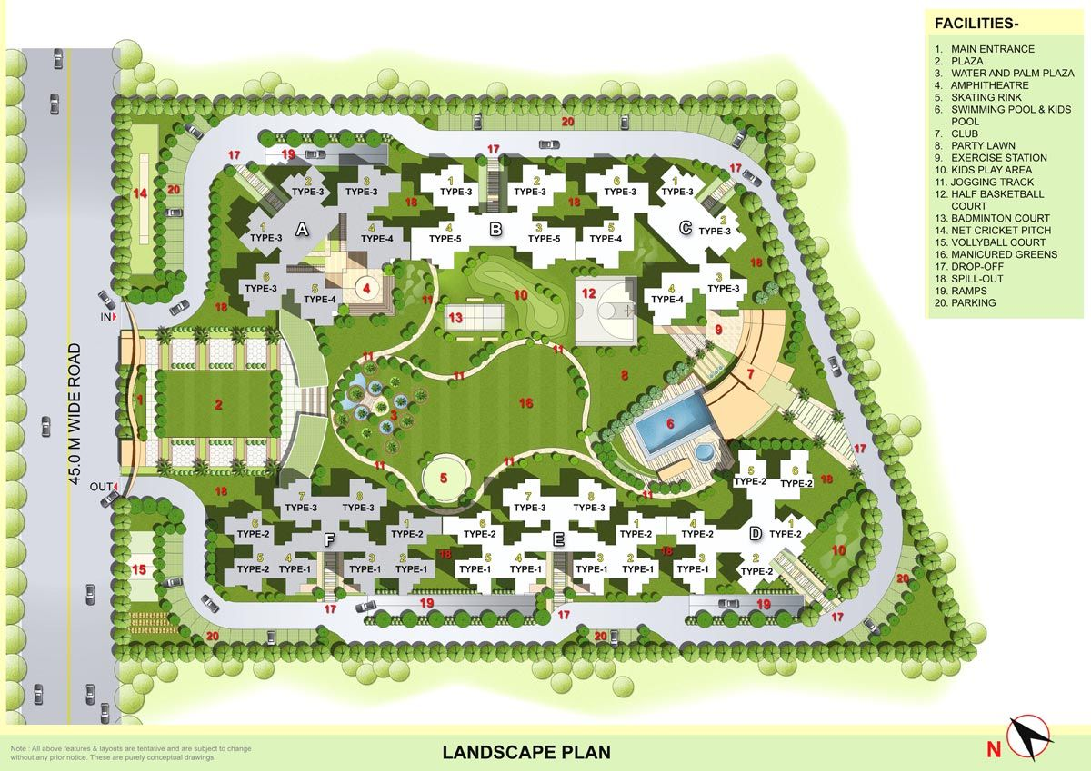 Residential complex plan google a r c h i for Residential site plan