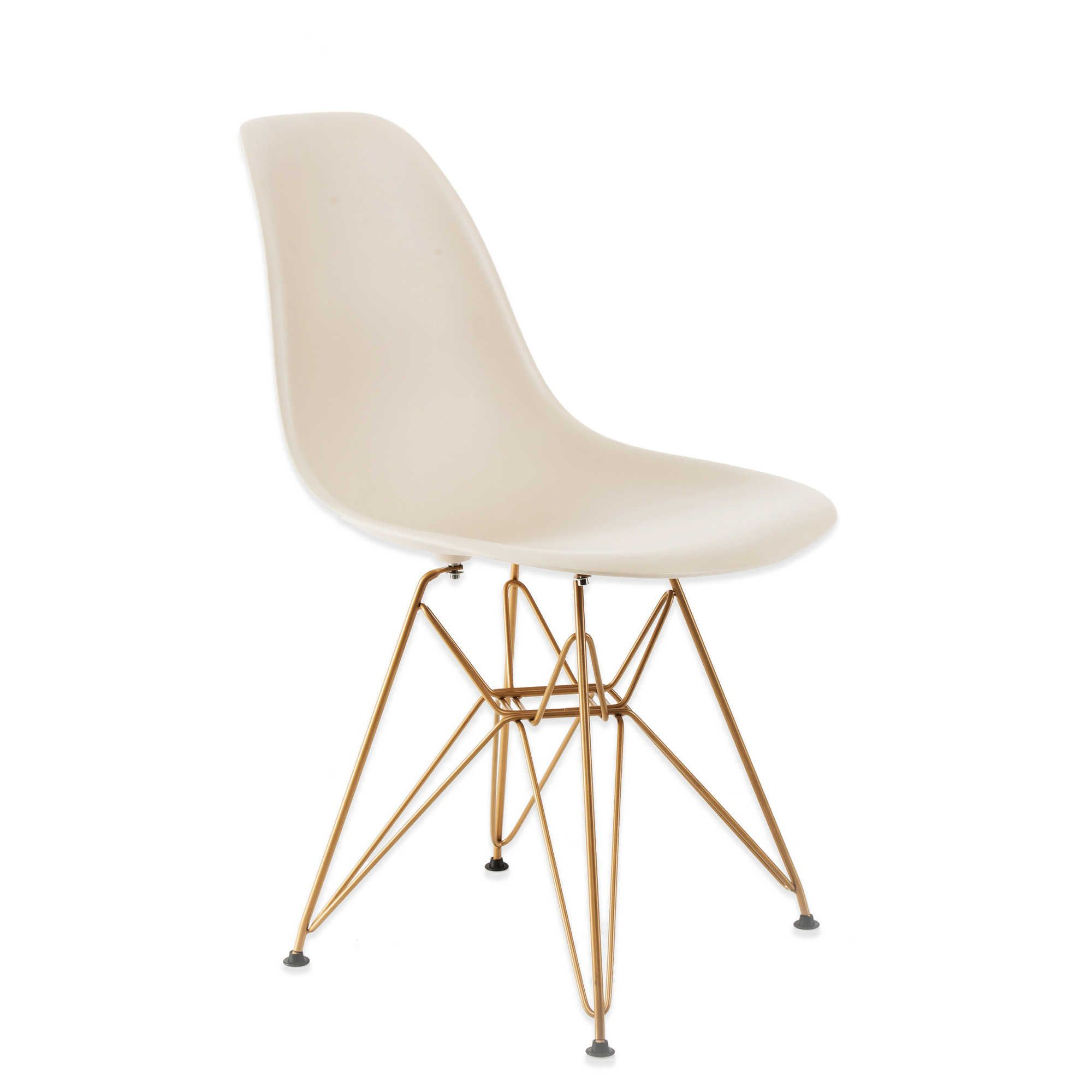 Beau American Atelier Banks Chair With Gold Legs In Beige