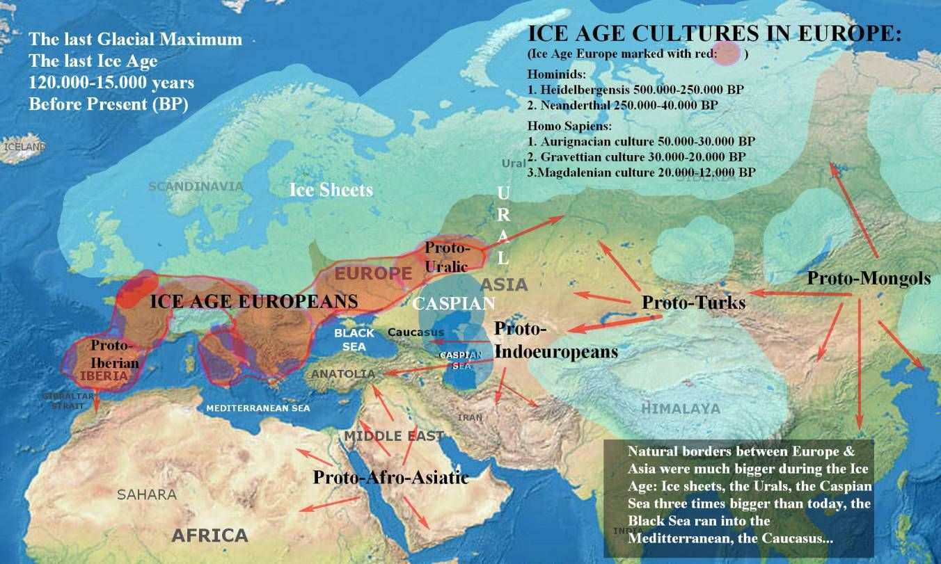 After The Ice Maps Of Early European Migrations Maps