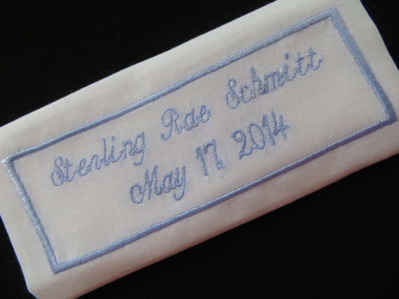 Custom Embroidered Wedding Dress Label by EmbroideryCollection