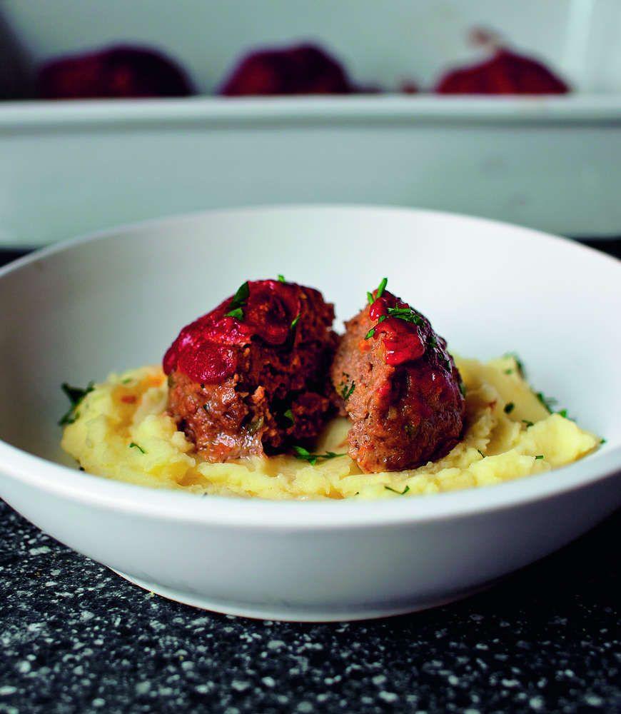 Tomato-glazed meatloaves with Mashed Potatoes | Recipe | Glaze ...
