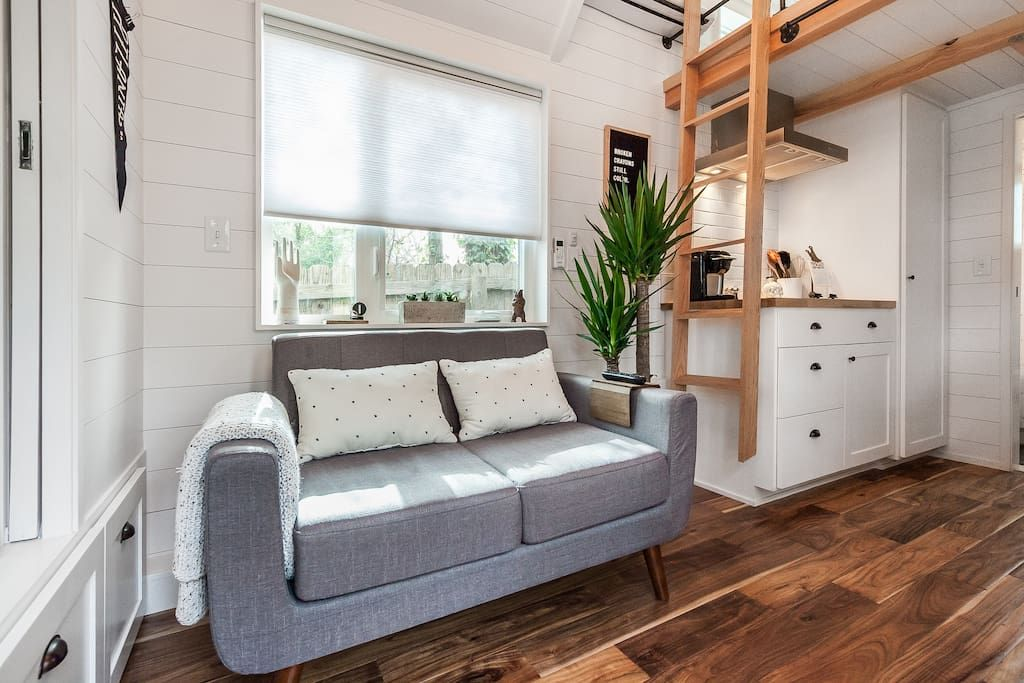 window shades Modern tiny house, Tiny houses for rent