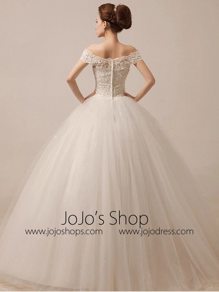 Off Shoulder Ball Gown Wedding Dress Debutante Dress | Debutante ...