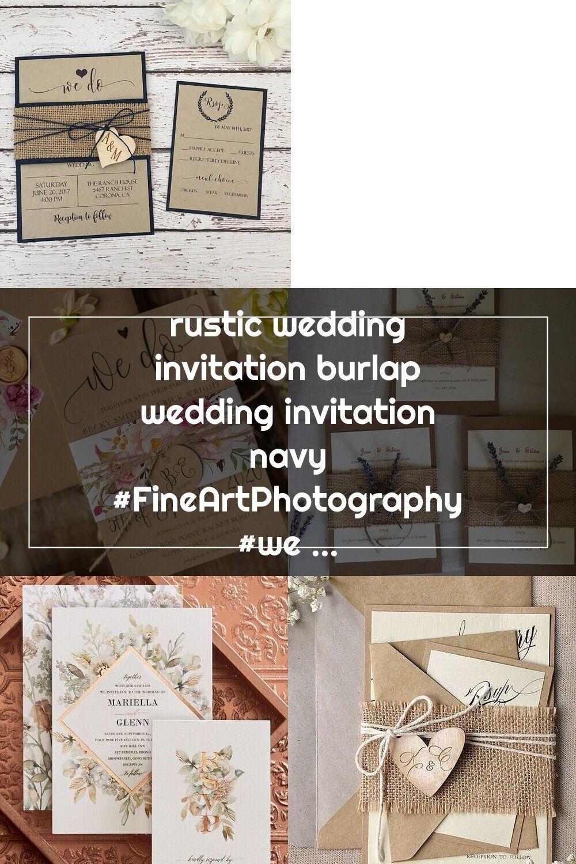 Rustic Wedding Invitation Burlap Wedding Invitation Navy Fineartphotograph Burlap Wedding Invitations Rustic Wedding Invitations Burlap Wedding Invitations Rustic