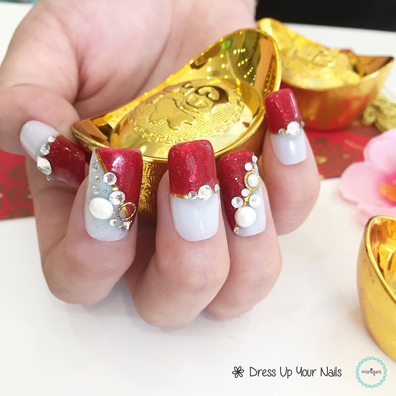 Chinese New Year Nails CNY Manicure New year's nails