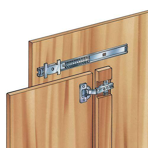 Affordable Retractable Cabinet Door Hardware Inset Hinges For Medium Duty Flipper Slides
